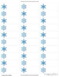 Snowflakes Christmas Mailing Labels Blue Foil 48758w