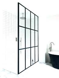 industrial shower door black framed shower doors rubber door seal that provide an industrial look hum industrial shower door