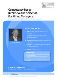competency based interview and selection for hiring managers brochure