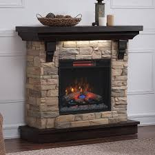 45 eugene aged coffee wall infrared electric fireplace