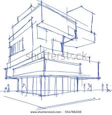 architecture sketches. hand drawn architectural sketch of a modern building with people around architecture sketches c