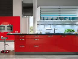 Kitchen Red Kitchen Cabinets And 51 Marvellous White And Red