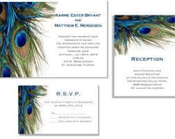 Peacock Invitations Peacock Invitations Etsy