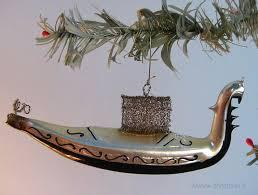 Antique Gondola Glass Christmas Ornament