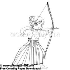 Anime Girl Martial Arts Archery Coloring Page 1046 Coloring By Miki