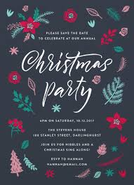 Christmas Party Save The Date Templates Merry Little Christmas Invitation Digital Printing