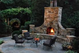 Small Picture Garden Fireplace Design Pleasing Outdoor Fireplace