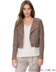 programmable selected women femme ellen outer coats jackets leather jacket suede lining polyester 50cm deep