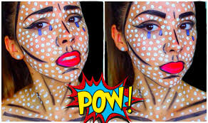 pop art ic book makeup tutorial