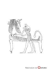 Een Kleurplaat Van Een Egyptische Mummie En De God Anubis Deze