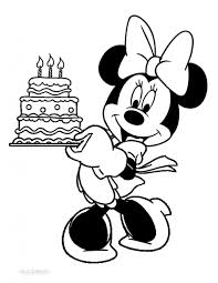 Birthday cards drawing for kids. Minnie Mouse Happy Birthday Coloring Happy Birthday Minnie Mouse Coloring Pages At Getdrawings Free Siegfried Lesoleildefontanieu Com
