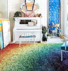 dorm room carpet rainbow multi color area rug kids play daycare target carpets