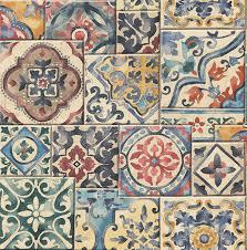 marrakesh moroccan tile wallpaper jewels bolt