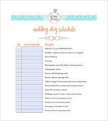 Event Itinerary Template New Wedding Agenda Template 44 Free Word Excel PDF Format Download
