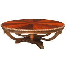 sunburst round mahogany coffee table
