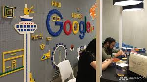new google office. US Tech Giant Google Officially Unveiled Its New Singapore Office Located At Mapletree Business City On Thursday (Nov 10).The Office, Which Serves