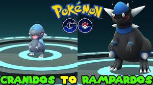 Evolve Cranidos Pokemon Go
