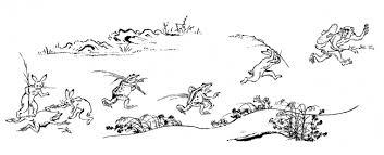 日本最古の漫画国宝鳥獣人物戯画の期間限定イベント鳥獣人物戯画