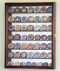 challenge coin display case rack military