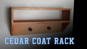 Cedar Coat Rack Wood Working Projects Cedar Coat Rack YouTube 52