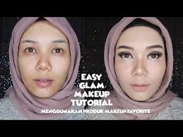 easy glam makeup tutorial menggunakan produk makeup favorite bahasa indonesia