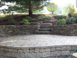 paver patio drystack walls