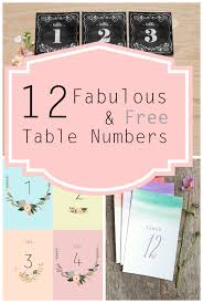 wedding table cards template free printable table numbers