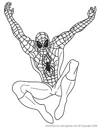 Amazing Spider Man Coloring Page - Cute Coloring