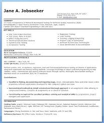 Scientist Resume Examples Software Tester Resume Sample Entry Level ...