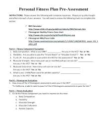 Personal Training Chart Personal Fitness Plan Template Trainer Nutrition Log Example