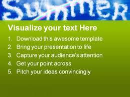 Summer Powerpoint Templates Summer Nature Powerpoint Template 0810