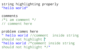 Quote Inside A Quote Regex Dont Select Comments Inside Double Quotes Stack Overflow