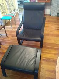 leather poang chair and ottoman from ikea