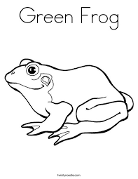 Small Picture Green Frog Coloring Page Twisty Noodle