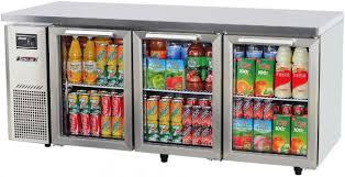 turbo air kgr18 3 under counter glass door refrigerator