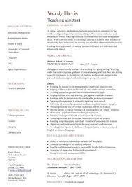 Resume Teaching Assistant Roddyschrock Com