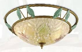 stanmore european style glass 2 light flush mount in multi colours with surround hermosa lighting