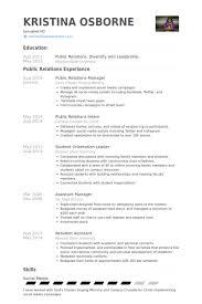 Public Relation Officer Resume Cv For Public Relation Officer