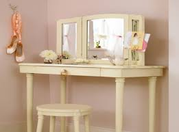 diy corner makeup vanity. Vintage White Stoned Top Wooden Makeup Vanity Table Featuring Square Folding Mirror With Seat Diy Corner