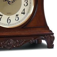 2 of 7 timeless treasures birds eye maple burl wood desk clock signed wooden for