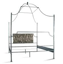 Dalton French Country Rustic Metal Old World Canopy Bed Queen