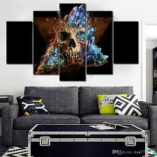 Modern Paintings For Living Room Cheap Horror Skull Canvas Painting No Frame Living Room Wall