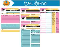 Travel Itinerary Planner New Editable Digital Planner Travel Planner