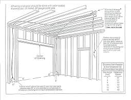 roll up garage door installation instructions garage door operator and framing guide for overhead installation instructions
