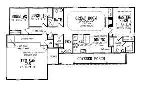modest farmhouse ranch traditional house plan first floor 016d 0027 house planore