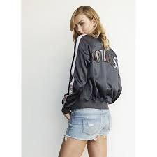 karlie kloss for express satin reversible optimist er jacket top celebrity jackets