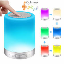 Wireless Bluetooth Portable Speakers Touch Sensor Bedside Lamp Smart Led Touch Lamp Portable Led Desk Lamp Outdoor Table Lamp With Smart Touch Control