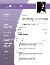 Word Doc Resume Template Cv Word Document Template