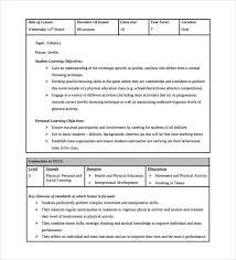 Download Lesson Plan Template Sample Physical Education Lesson Plan 14 Examples In Pdf Word Format