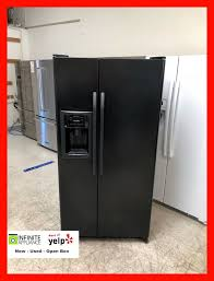 compact side by side refrigerator. Delighful Side GE 33u201d COMPACT Side By Refrigerator 22 Cuft BLACK For Sale In San  Jose CA  OfferUp And Compact By